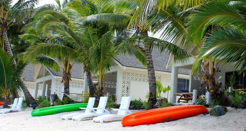 Cook Bay Villas from beach