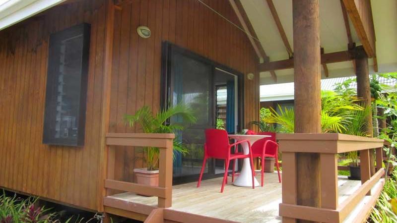 Lya's Bungalow balcony
